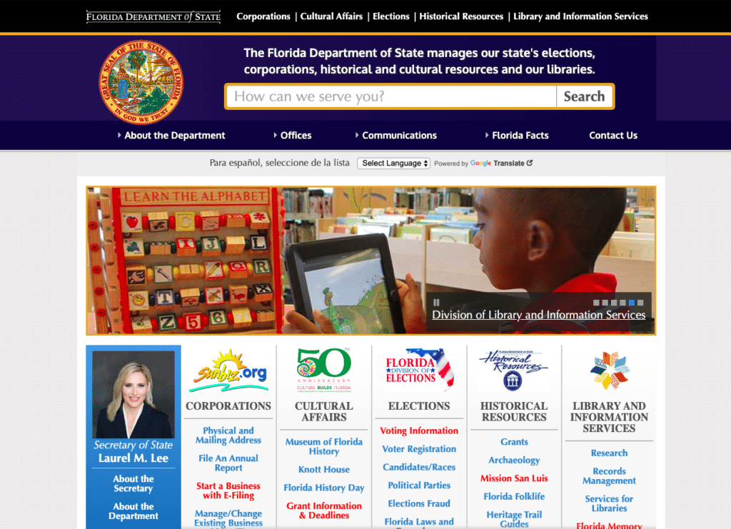 Florida department of state website