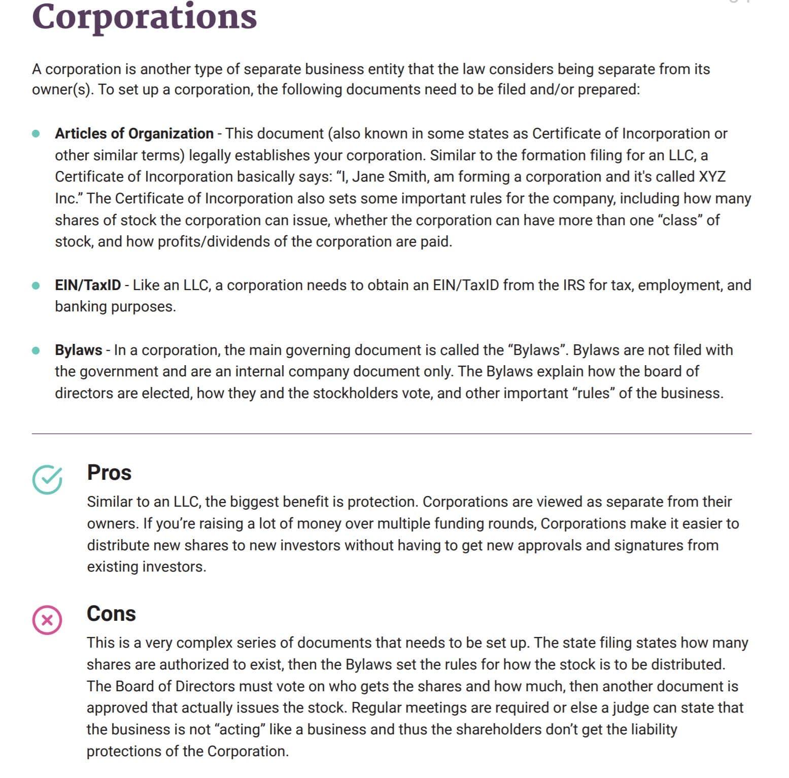 BetterLegal Corporations
