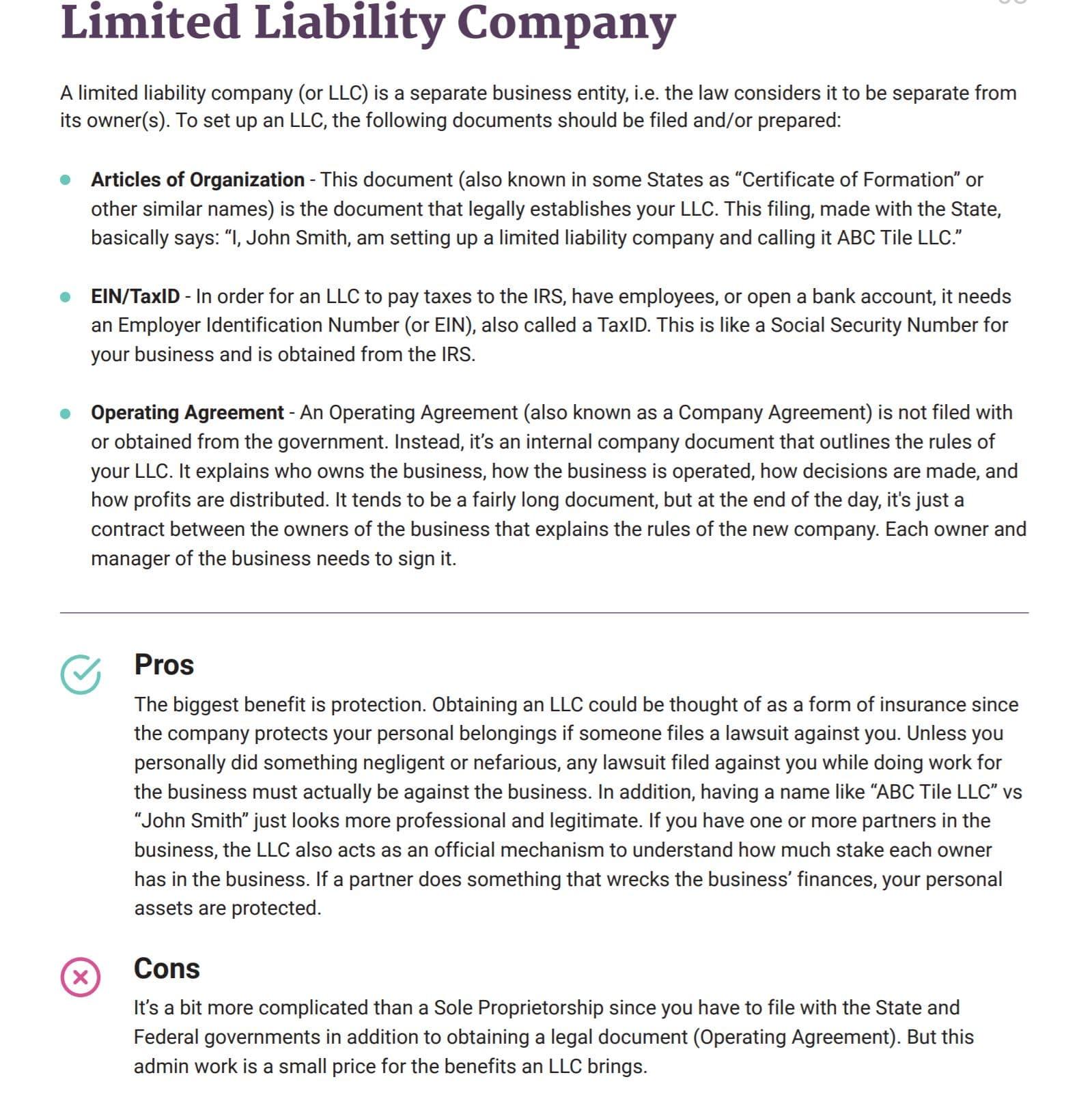 BetterLegal LLC explaination
